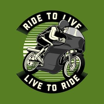 Klassieke moto racer