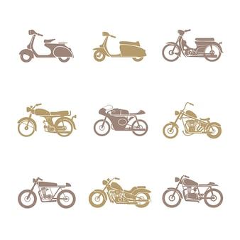 Klassieke motorfiets pictogram
