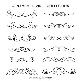 Klassieke ornament divider collectie