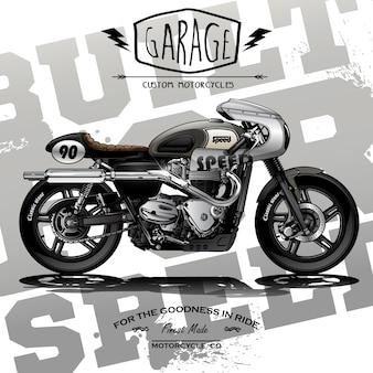 Klassieke race motorfiets poster