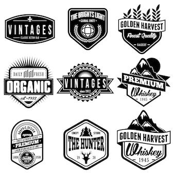 Klassieke retro badges logo embleem