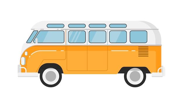 Klassieke retro bus geïsoleerde illustratie