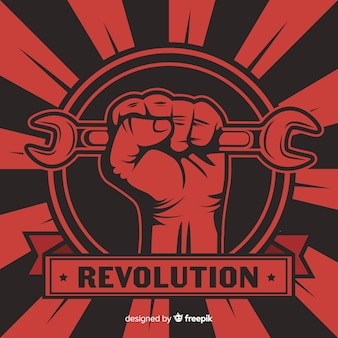Klassieke revolutiesamenstelling met grungestijl