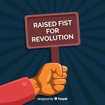 Klassieke revolutiesamenstelling met opgeheven vuist