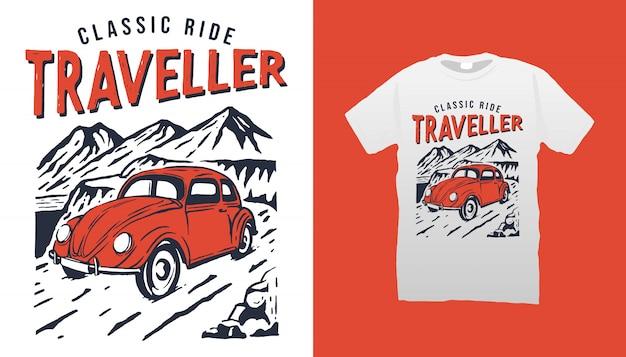 Klassieke ride traveler tshirt