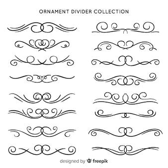 Klassieke set van vintage ornamenten