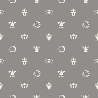 Klassieke sjabloon voor het versieren van boeken en ansichtkaarten. naadloos patroon als achtergrond, ontwerpdecor, vectorillustratie