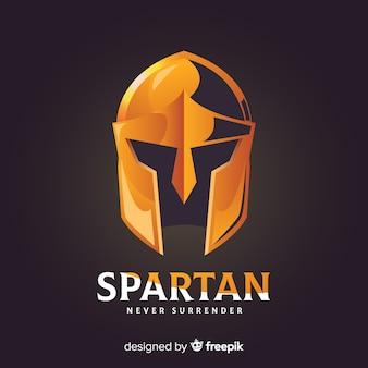 Klassieke spartaanse helm met gradiëntstijl