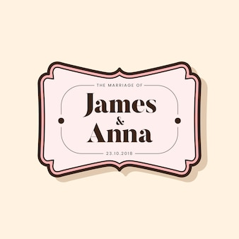 Klassieke stijl bruiloft uitnodiging badge