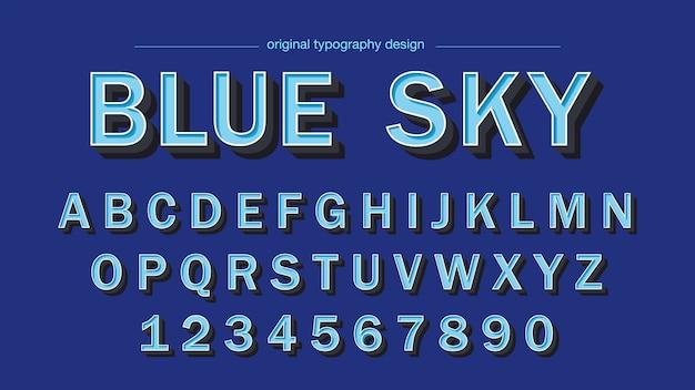 Klassieke vetgedrukte schuine blauwe typografie