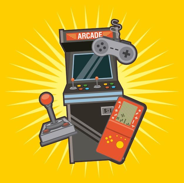 Klassieke videogames en console-enterprisepictogrammen
