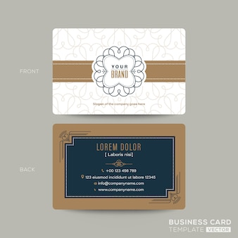 Klassieke vintage visitekaartje namecard ontwerpsjabloon. visitekaartje voor koffie winkel, café