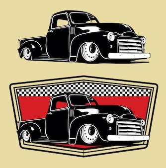 Klassieke vrachtwagen-illustraties