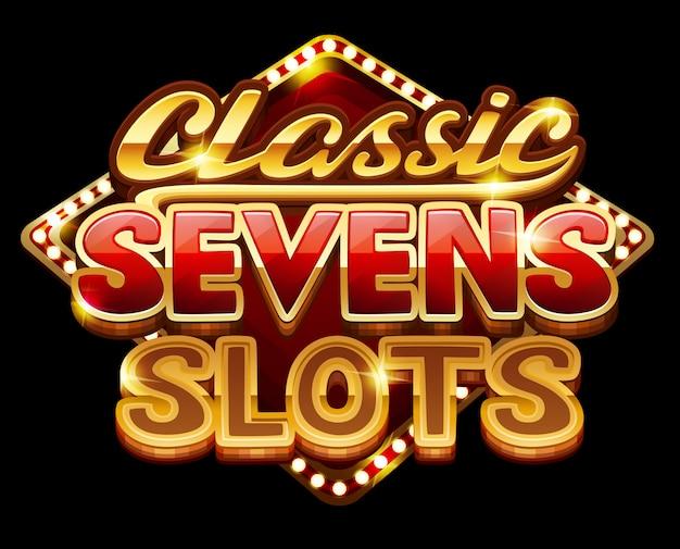 Klassieke zevenslots met logo voor spel
