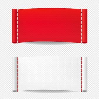 Kleding label geïsoleerd transparante achtergrond met verloopnet, illustratie