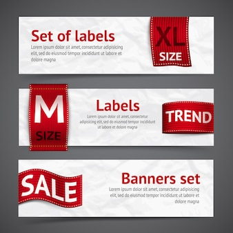 Kleding labels banners