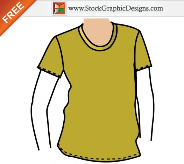 Kleding t-shirt mockup template gratis vector