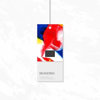 Kledinglabel met artistiek ontwerp