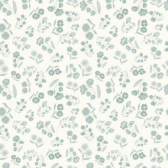 Klein bloemen vectorpatroon, naadloos vectorpatroon gevoelig en schoon