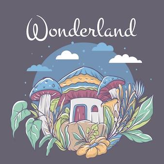 Klein huis in wonderland