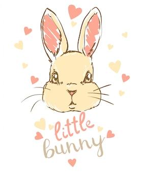 Klein konijntje, vector illustratie konijn