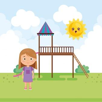 Klein meisje in het park