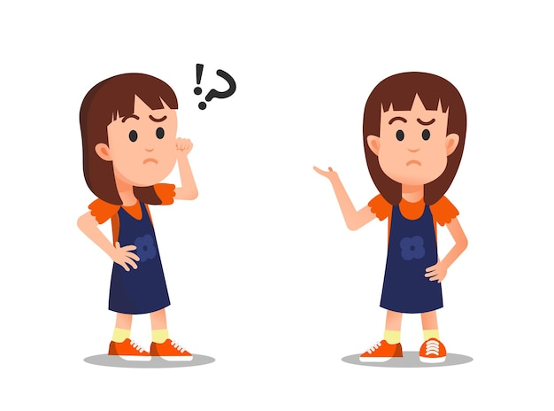 Klein meisje met een verwarde uitdrukking