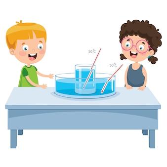 Klein schoolkind leren experiment