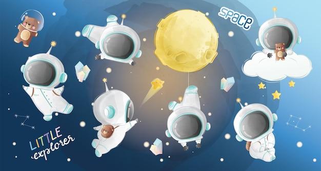 Kleine astronaut boy-collecties