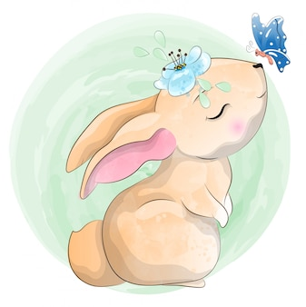 Kleine baby konijn