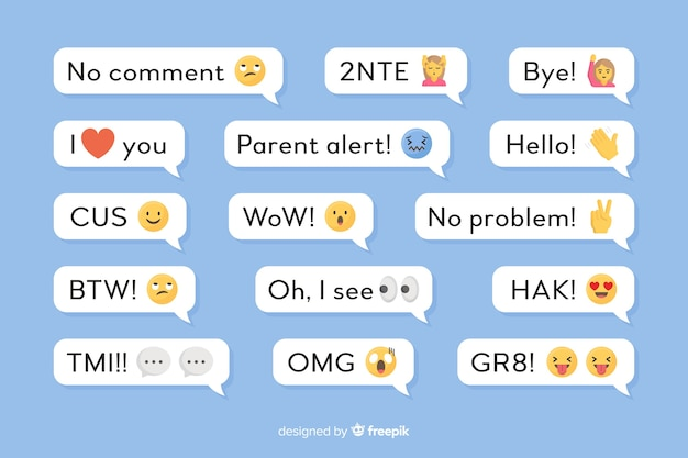Kleine berichten met emoji's