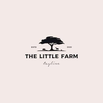 Kleine boerderij logo-ontwerp