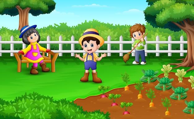 Kleine boeren een activiteit op de boerderij