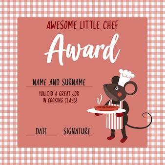 Kleine chef-kok award