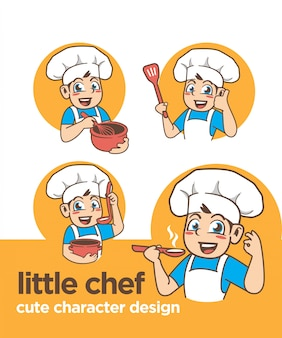 Kleine chef-kok met een schattig karakter