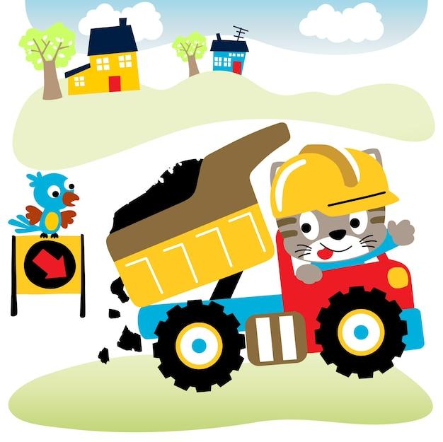 Kleine dieren op vrachtwagen