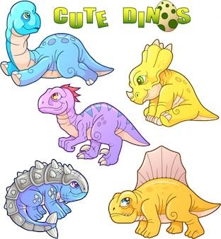 Kleine dinosaurussen Premium Vector