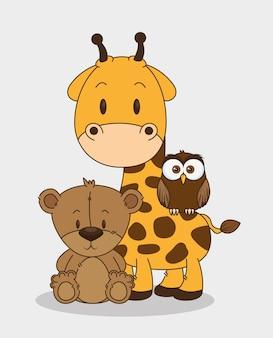 Kleine en schattige dieren groep