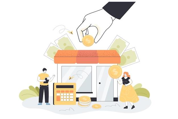 Kleine failliete zakenmensen krijgen subsidie van de overheid