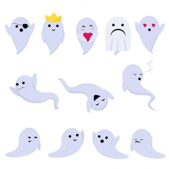 Kleine grappige geesten voor halloween-vakantie