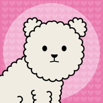 Kleine hond schattige mascotte karakter