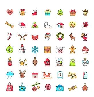 Kleine kerst icons set