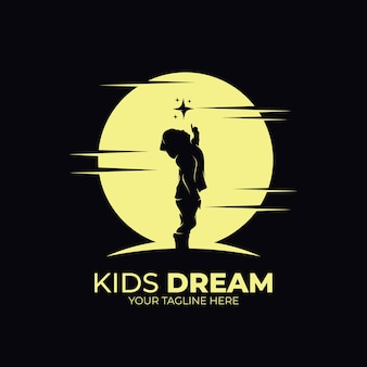 Kleine kinderen bereiken ster-logo