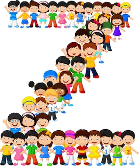 Kleine kinderen vormen alfabet z