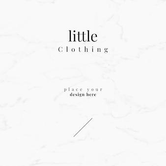 Kleine kleding sjabloonontwerp eps typografie