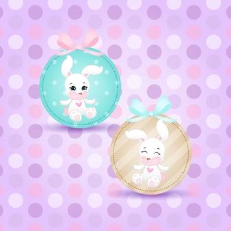 Kleine konijntje, pasen illustratie