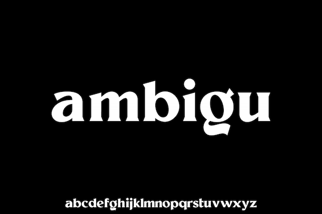 Kleine letters serif-lettertype weergeven lettertype