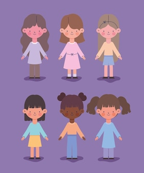 Kleine meisjes pictogrammen