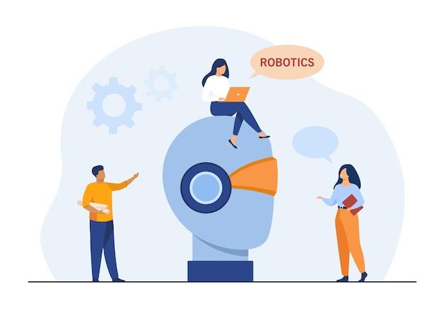 Kleine mensen en een gigantische robotkop