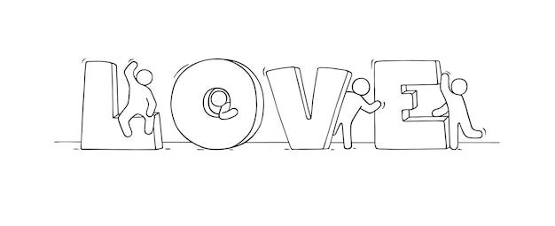 Kleine mensen met groot woord liefde.